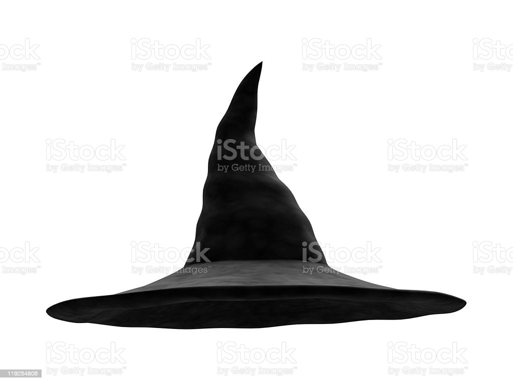 Old Witch Hat stock photo