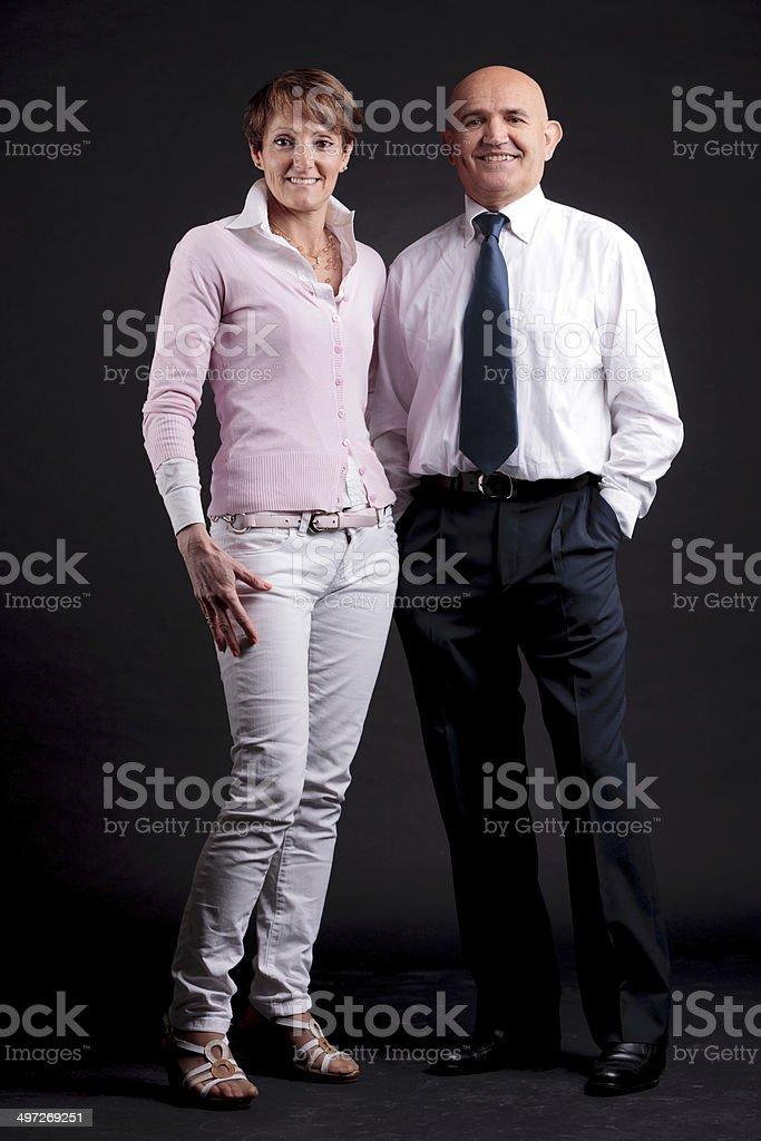 歳の女性や男性楽しいお集り ストックフォト