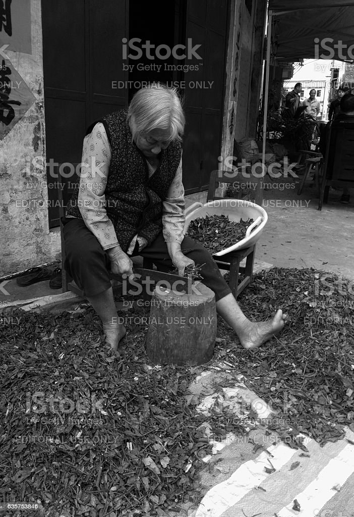 Zhaoqing Village, Guangdong, China - December 6th, 2016: picture...
