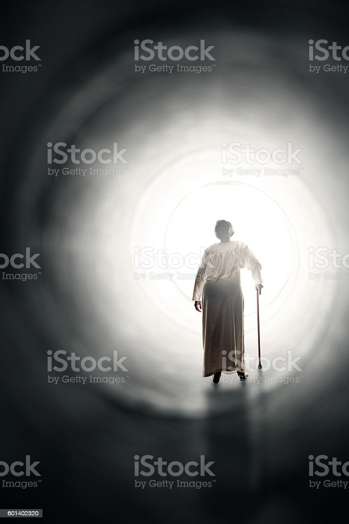 Old Woman End Of Life Concept stock photo