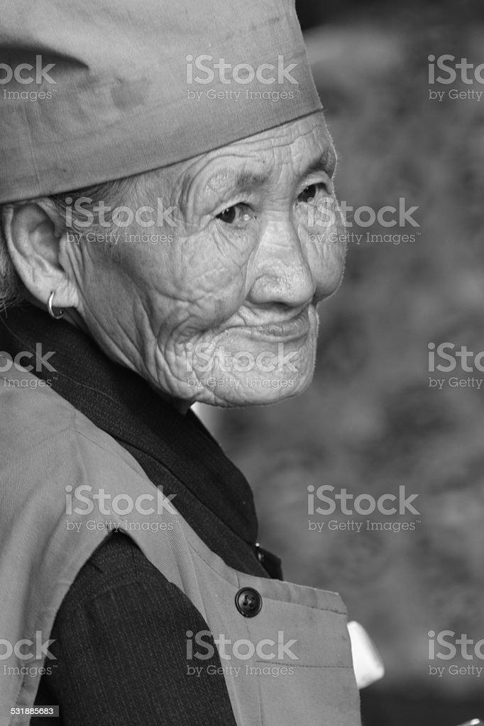 Alte Frau aus China stock photo