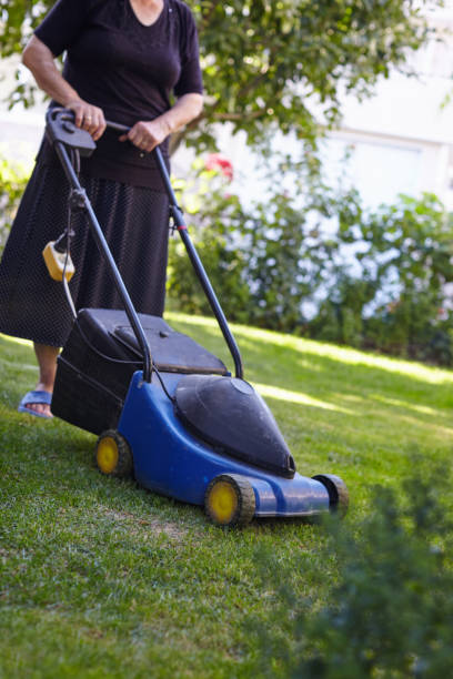 Woman Lawn Mower Stock Photos - Download 543 Royalty Free