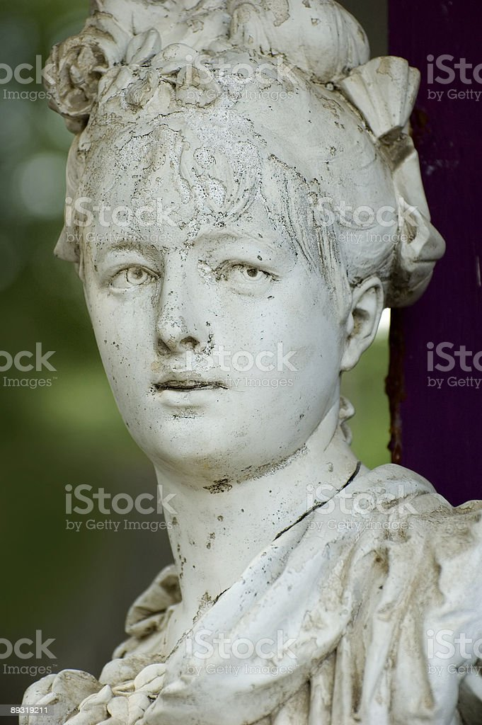 Old woman sculpture stock photo