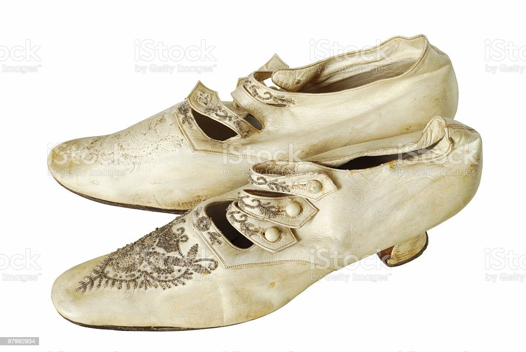 old woman shoes, late XIX century royalty free stockfoto