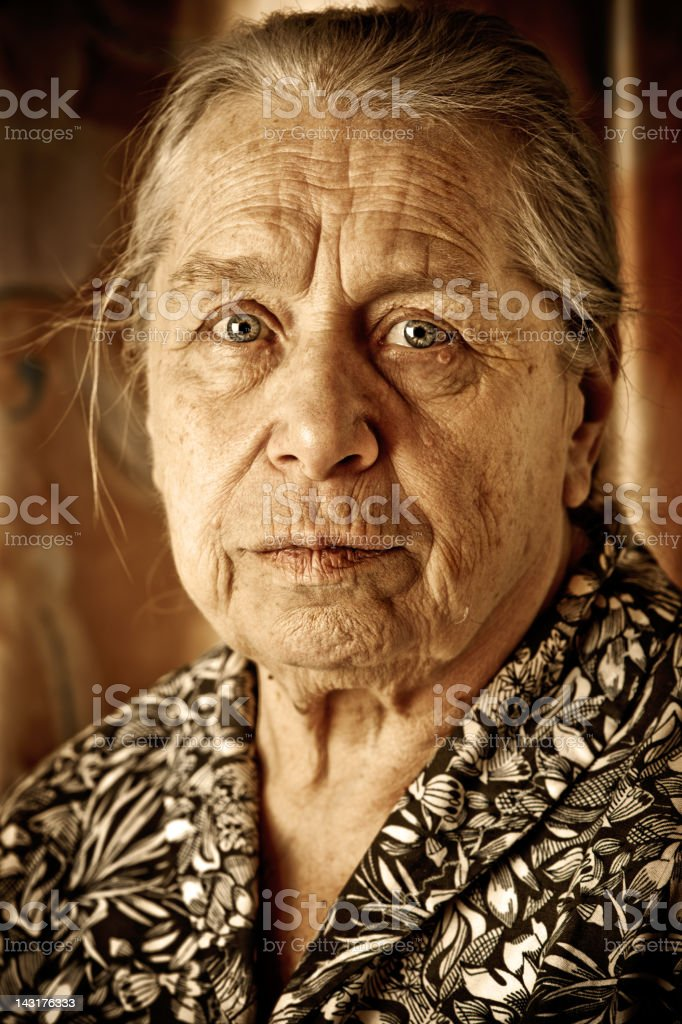 Old woman's portrait royalty-free stock photo