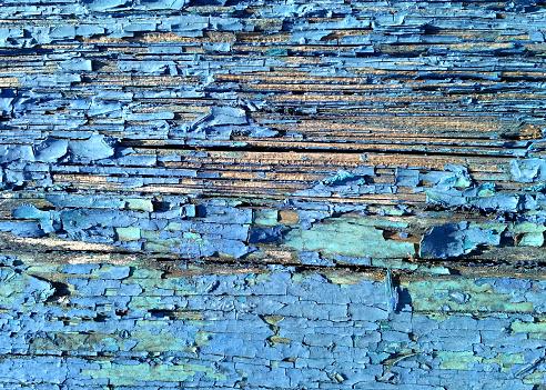 오래 된 나무 배경 닫습니다 세 그린 블루 컬러 필 링 금이 보드 0명에 대한 스톡 사진 및 기타 이미지