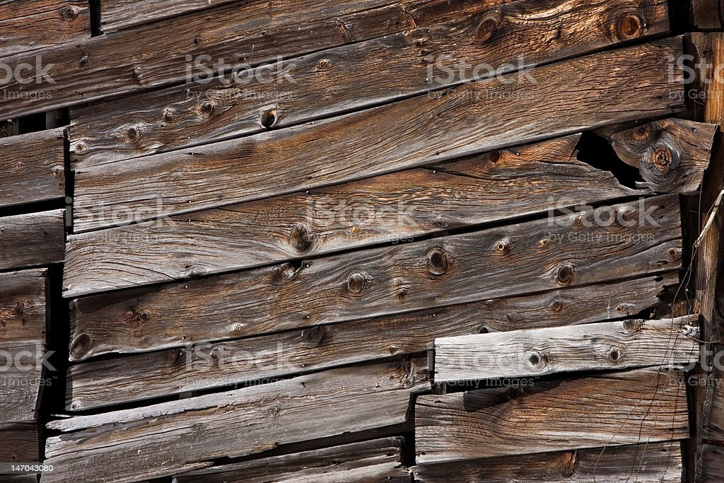 Old Wood Barn Exterior stock photo