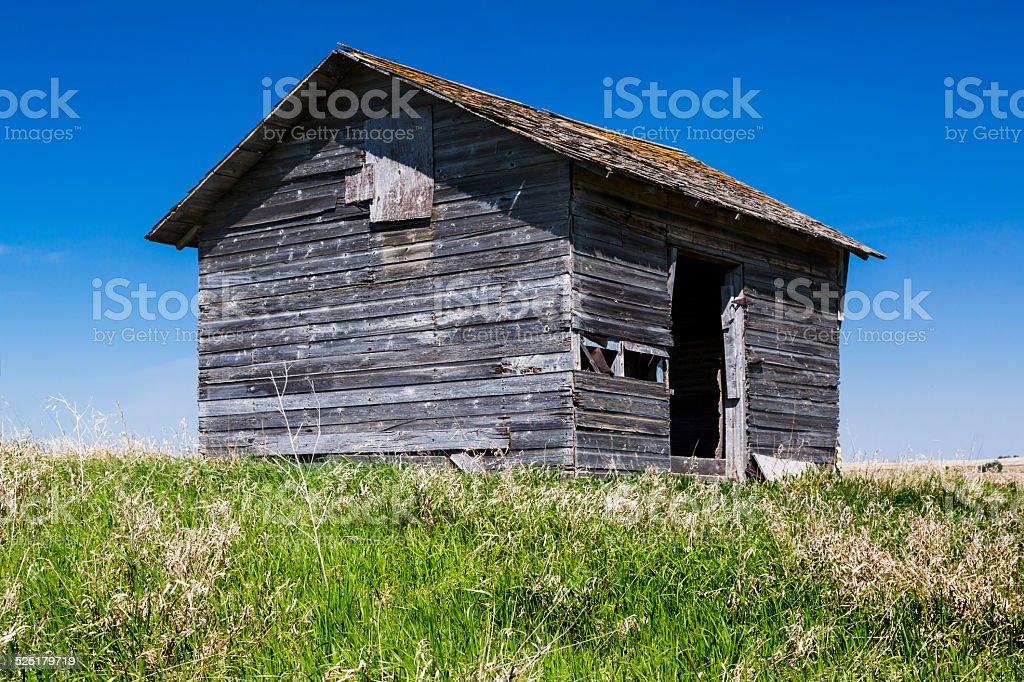 Old Wood Building stock photo