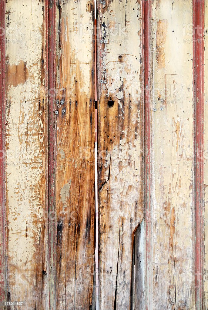 Old wood door royalty-free stock photo