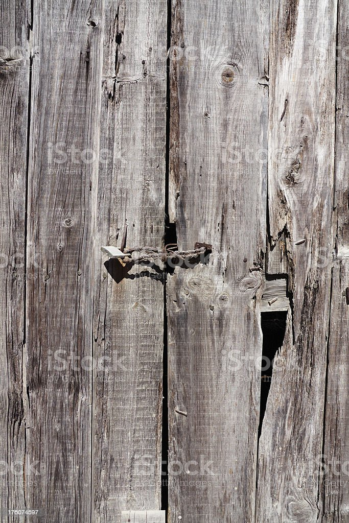 Old Wood Door royalty-free stock photo