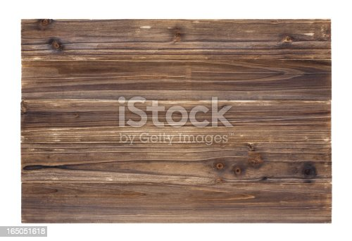 istock Old wood panelling background textured (Full Frame) 165051618