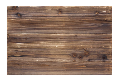 Old wood panelling background textured (Full Frame) isolated on white