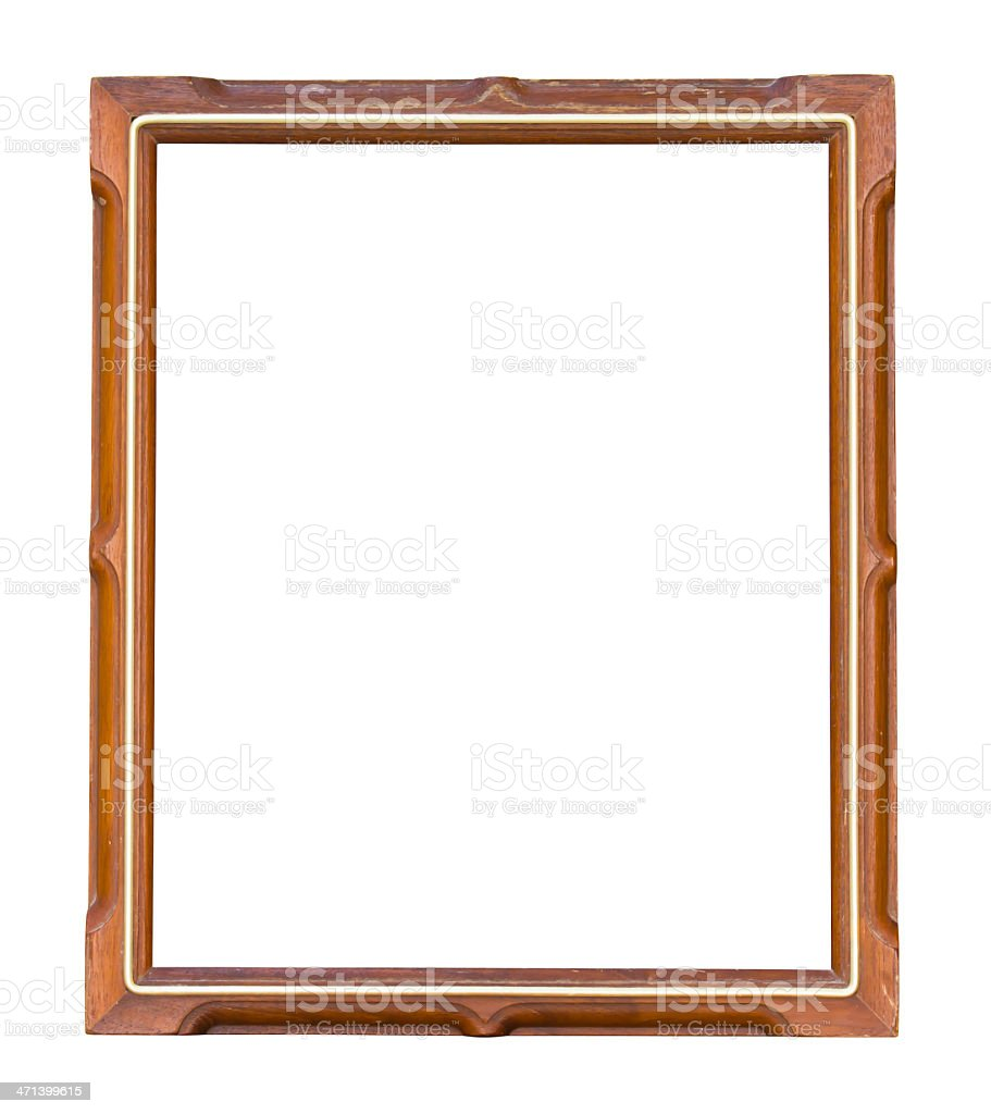 Old wood picture frame royalty-free stock photo