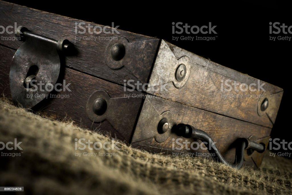Old Wood saving box stock photo