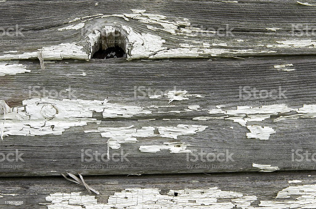 Old Wood Siding with Knot royalty-free stock photo
