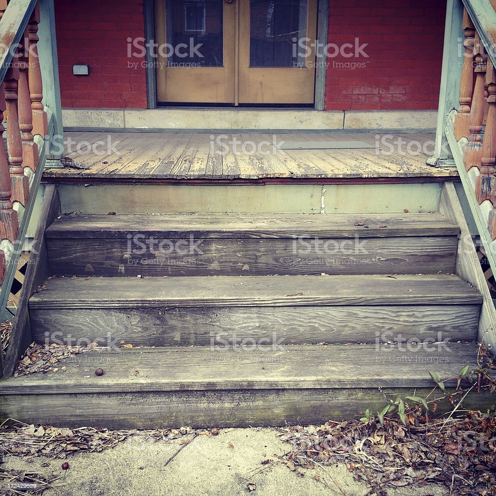 Old Wood Steps royalty-free stock photo