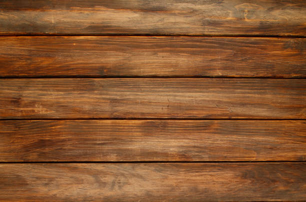 Old Wood texture Brown backgrounds - foto stock