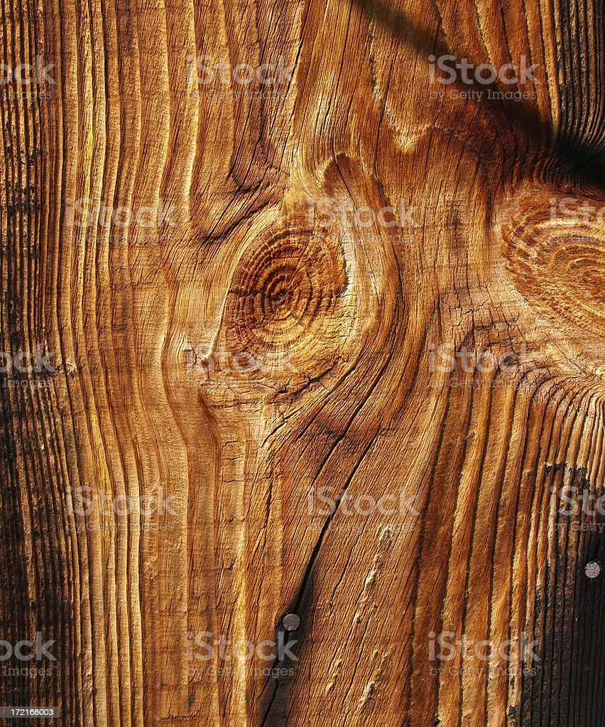 Old Wood w. a Shadow. royalty-free stock photo