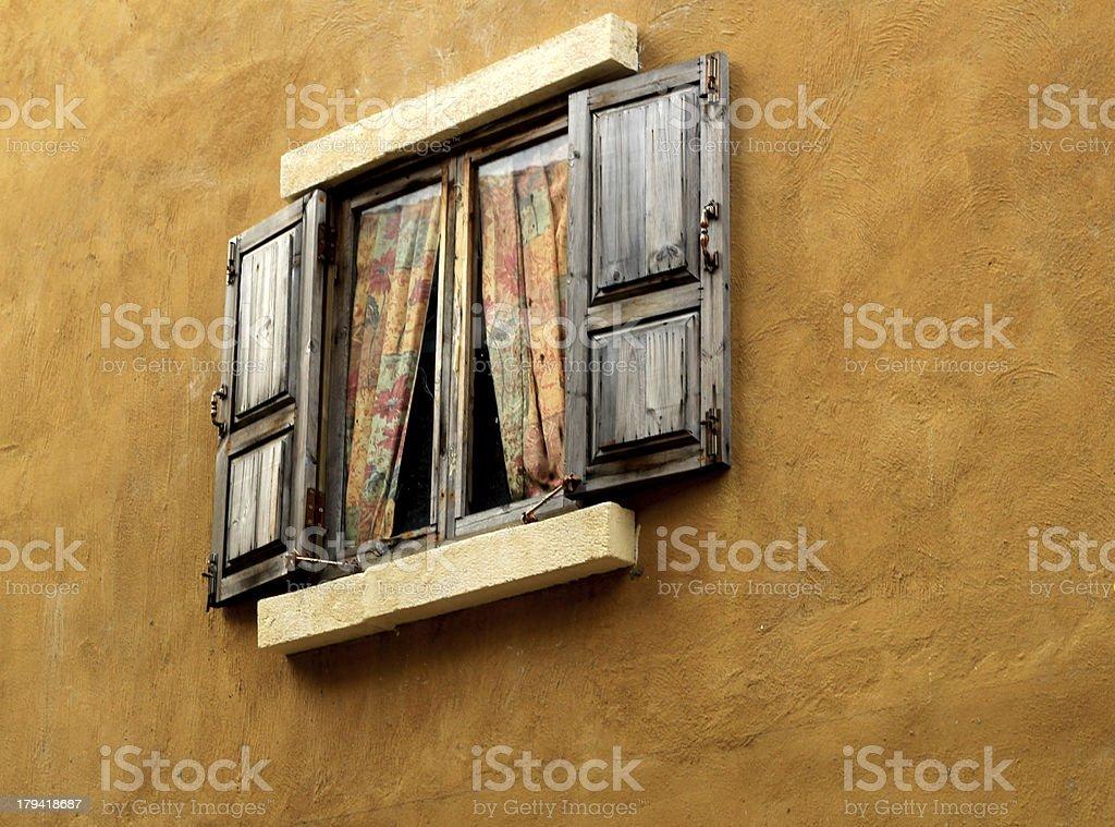 Old wood windows. royalty-free stock photo