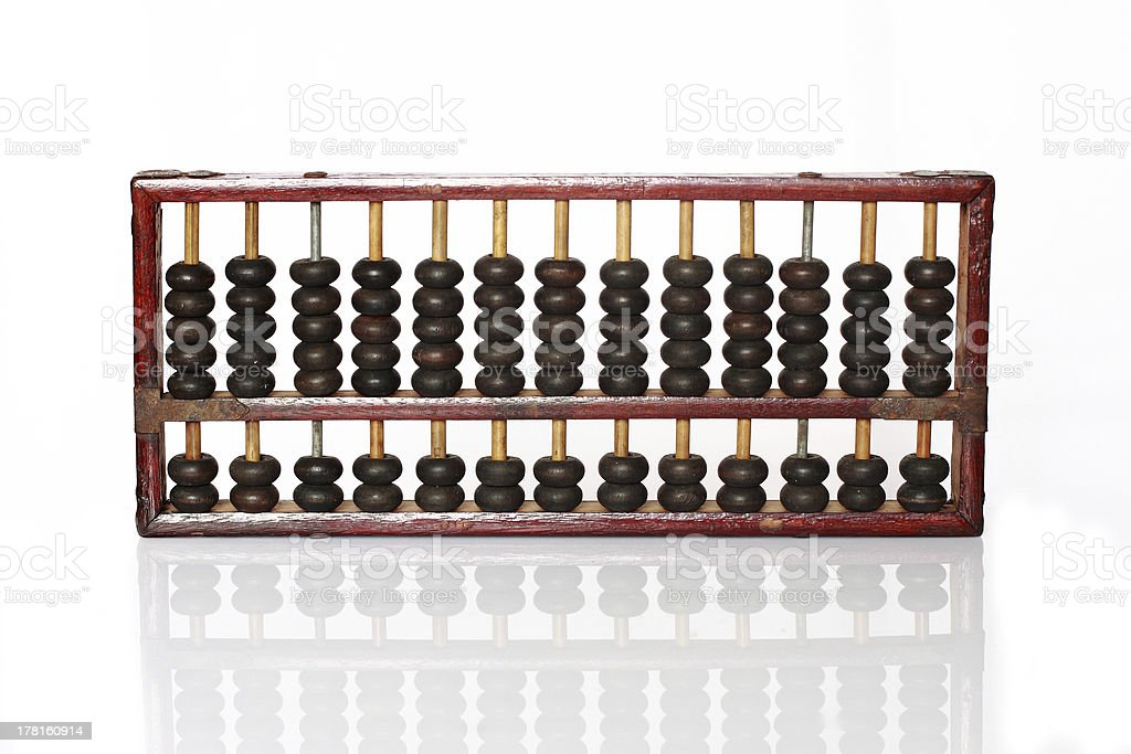 Old wooden abacus royalty-free stock photo