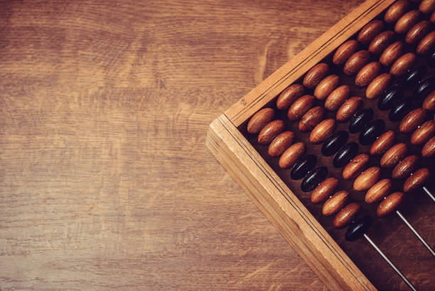 old wooden abacus - foto stock