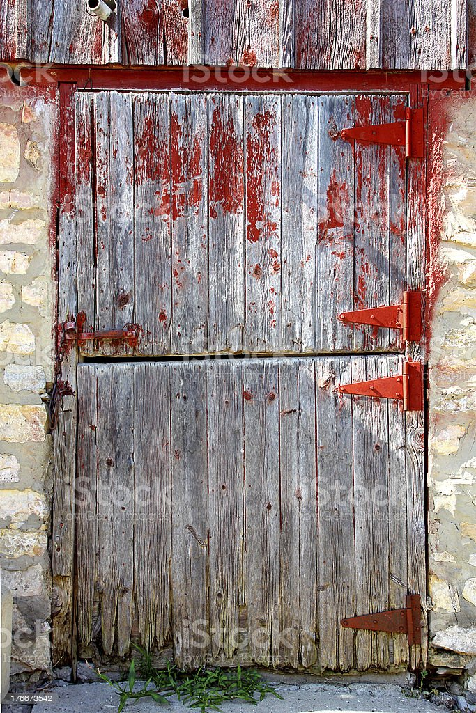 Old Wooden Barn Door royalty-free stock photo