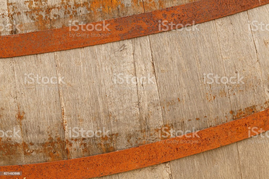 Old wooden barrel  Weathered wood texture backgrounds photo libre de droits