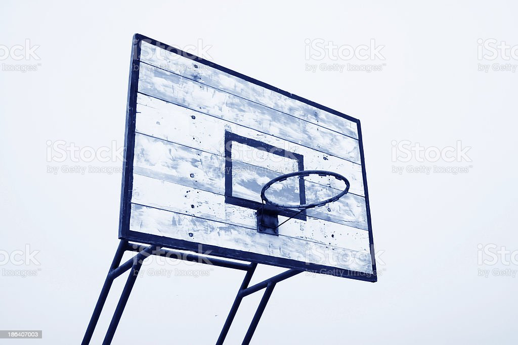 old wooden basketball box royalty-free stock photo