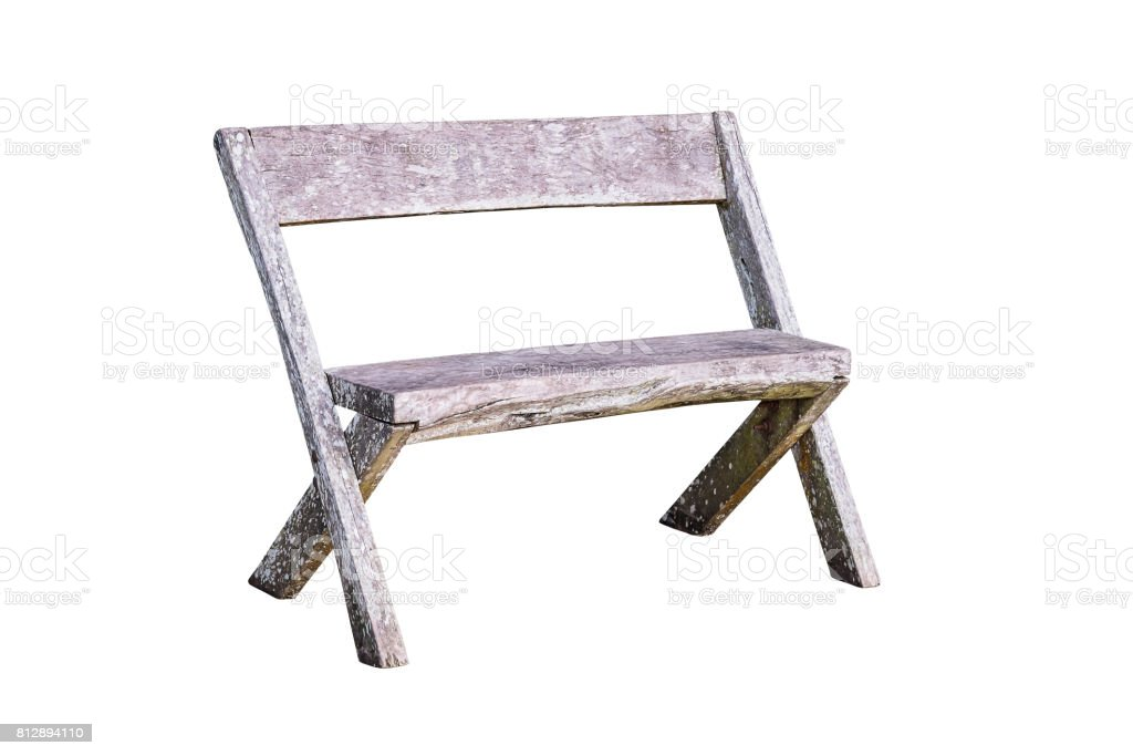 Remarkable Old Wooden Bench Isolated Stock Photo Download Image Now Machost Co Dining Chair Design Ideas Machostcouk
