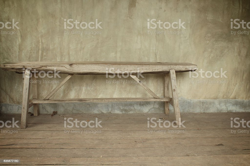 Pleasant Old Wooden Bench On A Wooden Background And Polished Pdpeps Interior Chair Design Pdpepsorg