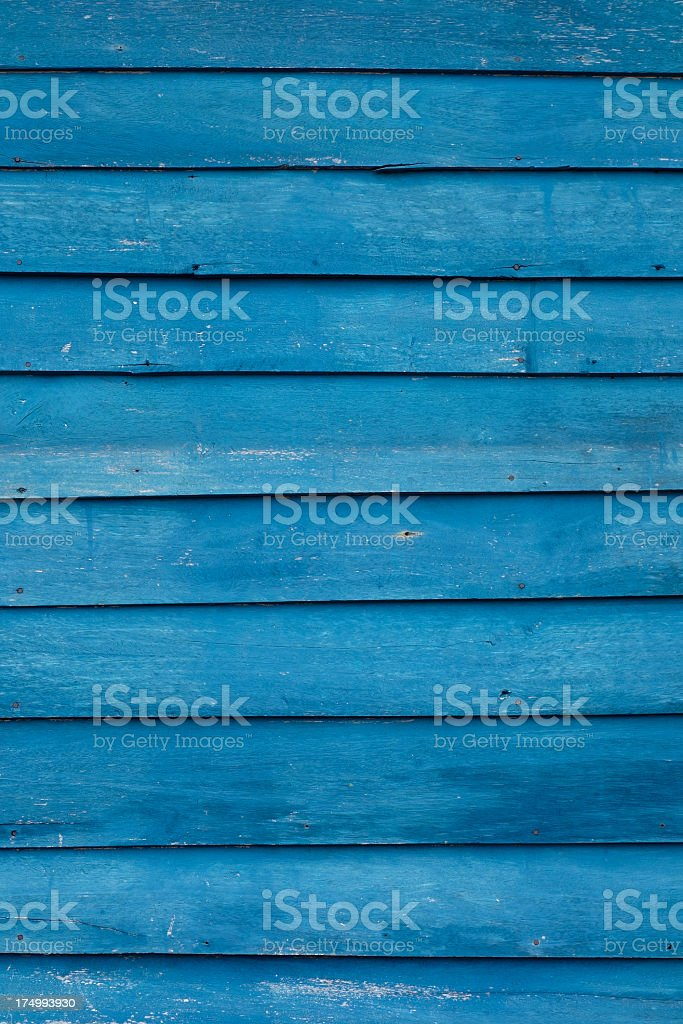 Old wooden blue board background. royalty-free stock photo