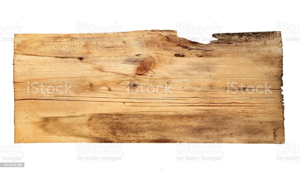 old wooden boards isolated on white background stock photo