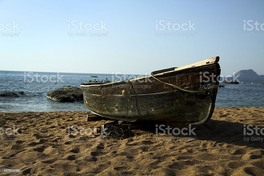 Old Wooden Boat royalty-free stock photo