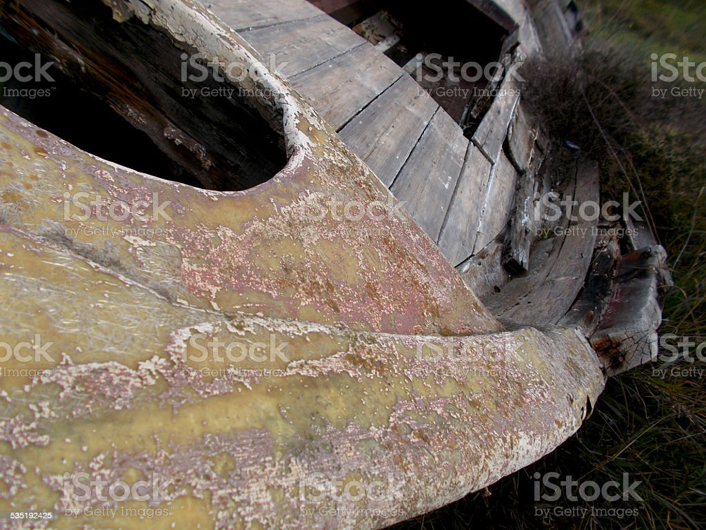 Old wooden boat stock photo