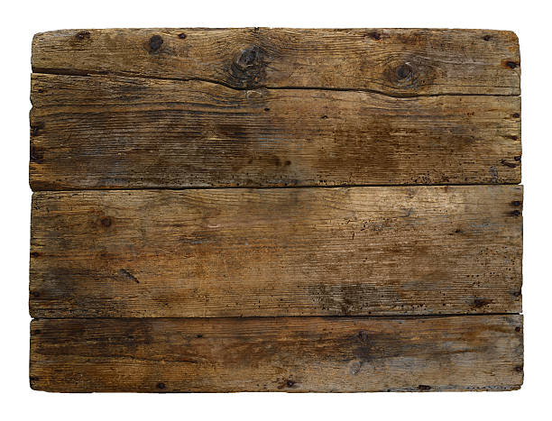 Old wooden box marked time stock photo