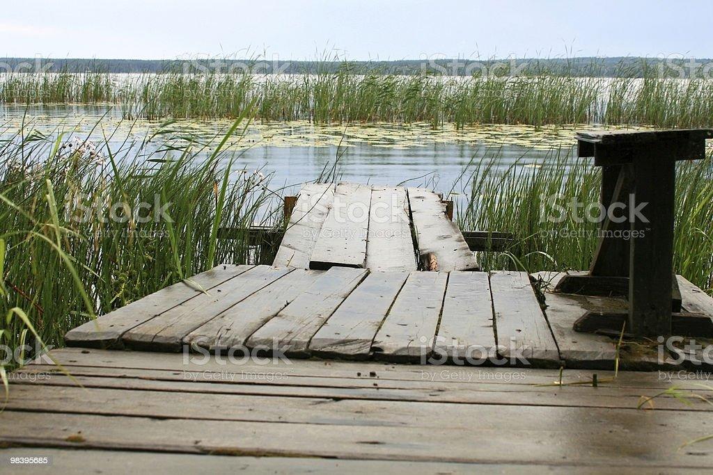 Old wooden bridge royalty-free stock photo