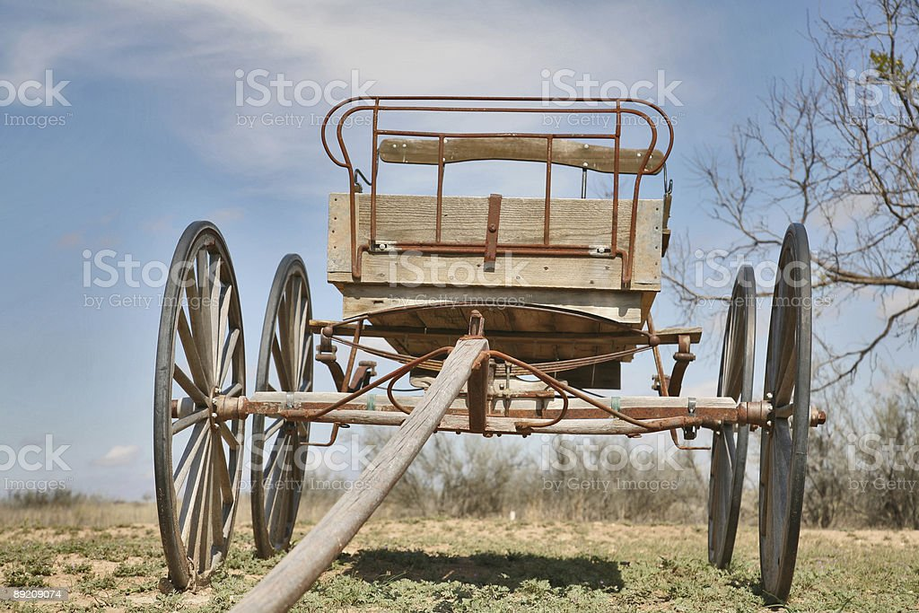 old wooden carriage 2 royalty-free stock photo