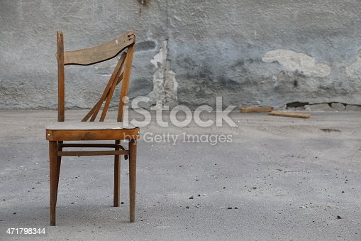 istock Old Wooden Chair 471798344