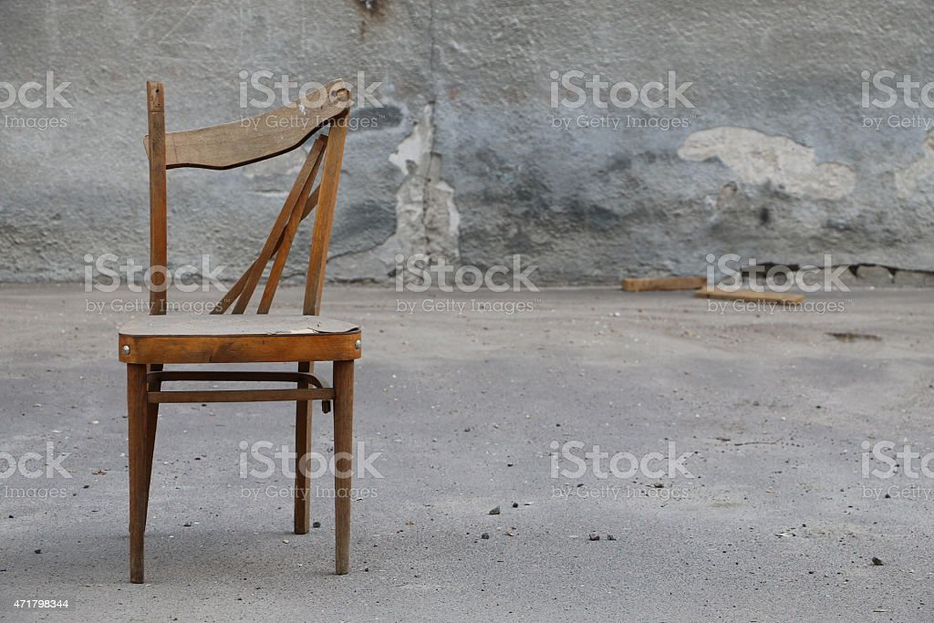 Old Wooden Chair stock photo