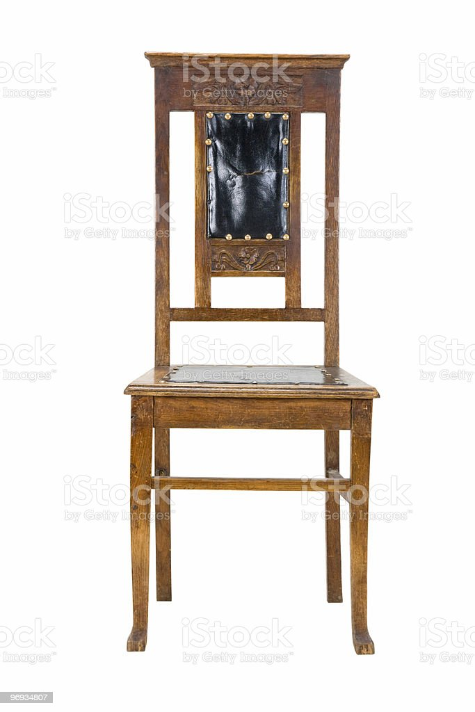 Old wooden chair royalty-free stock photo