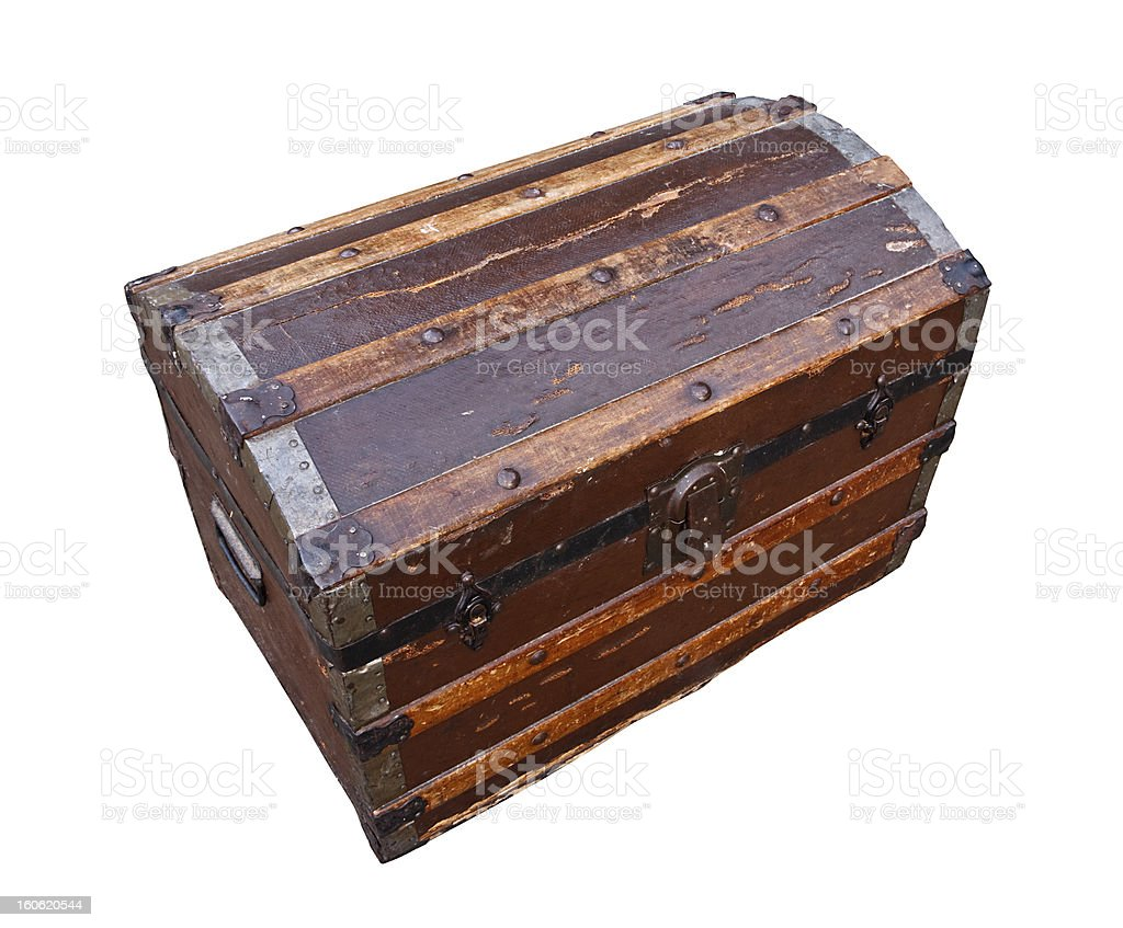 old wooden chest royalty-free stock photo