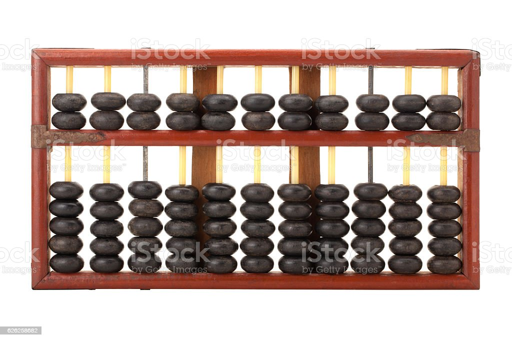 old wooden chinese abacus - foto de stock