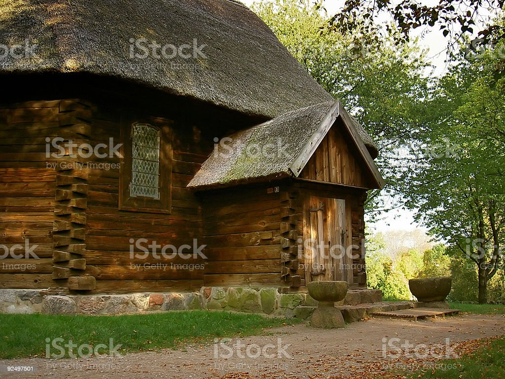 old wooden church royalty-free stock photo