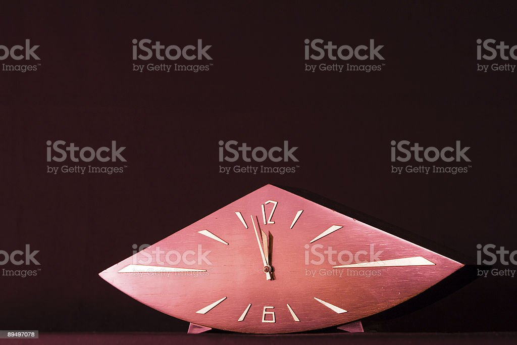 Old wooden clock royalty free stockfoto