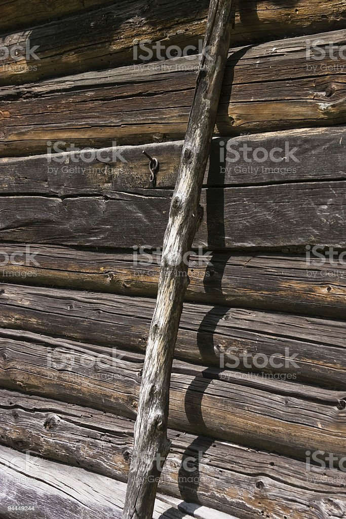 Old wooden country house royalty-free stock photo