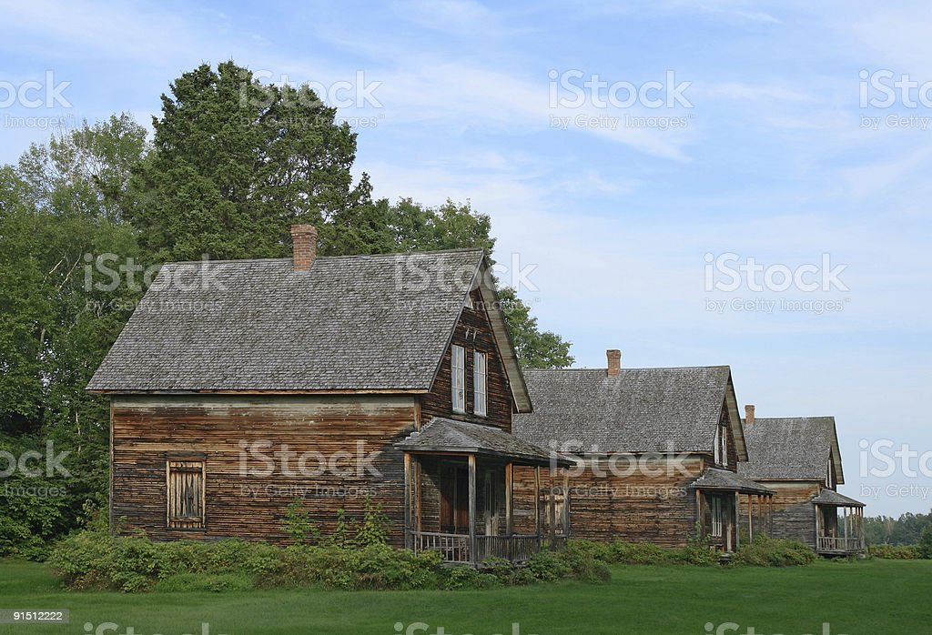 Old wooden country houses royalty-free stock photo