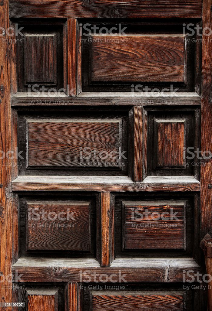 Old Wooden Door at the Alamo stock photo