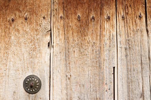 Old wooden door in the countryside