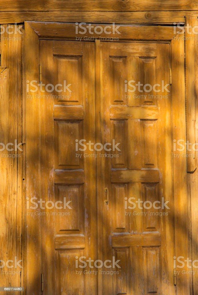 old wooden door. light texture background royalty-free stock photo