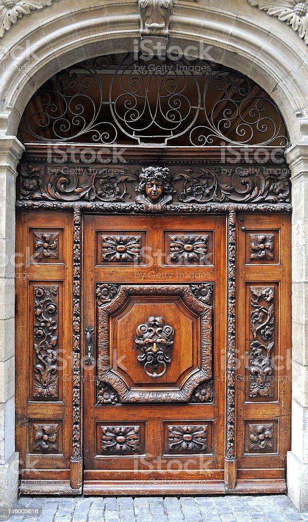 Alte hölzerne Tür – Foto